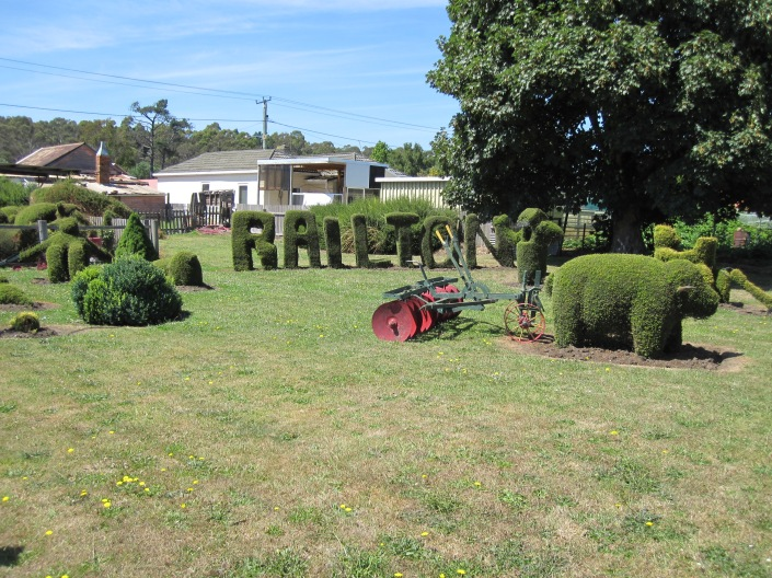 One of the many topiary displays in Railton, Tasmania.