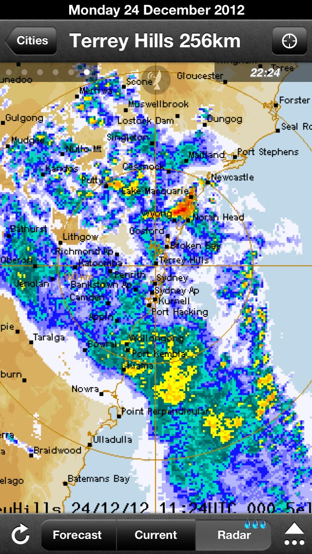 Sydney rain radar