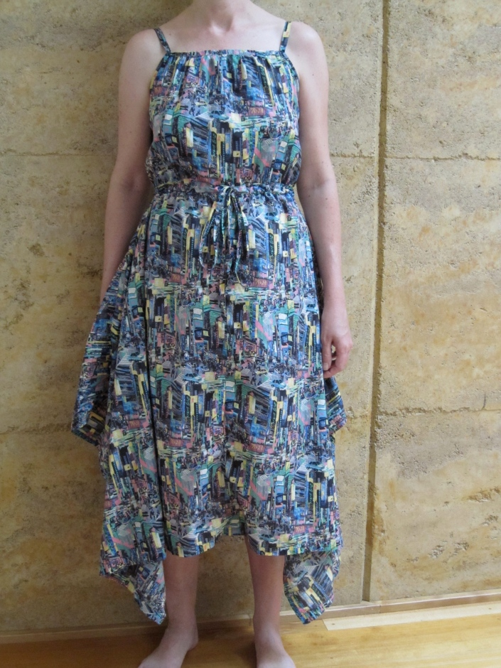 Dress made with Liberty Japanese cotton and a Japanese pattern.