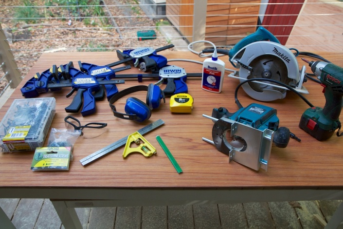 The tools needed for the job, nothing too unusual.