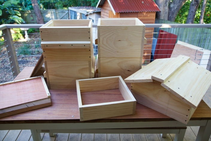 My new set of Warré hives