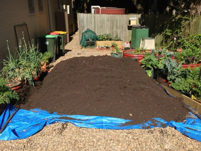 Now that's a big pile of compost!