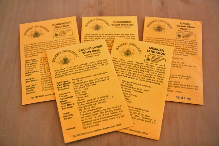 A selection of seeds suitable for sub-tropical climates.