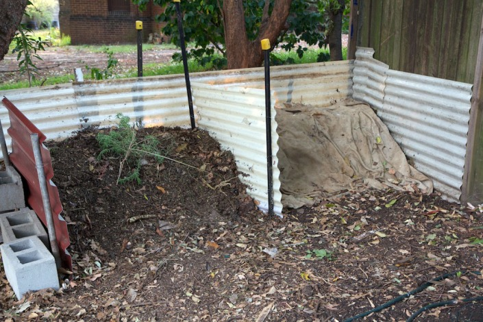 Two compost bays in action.