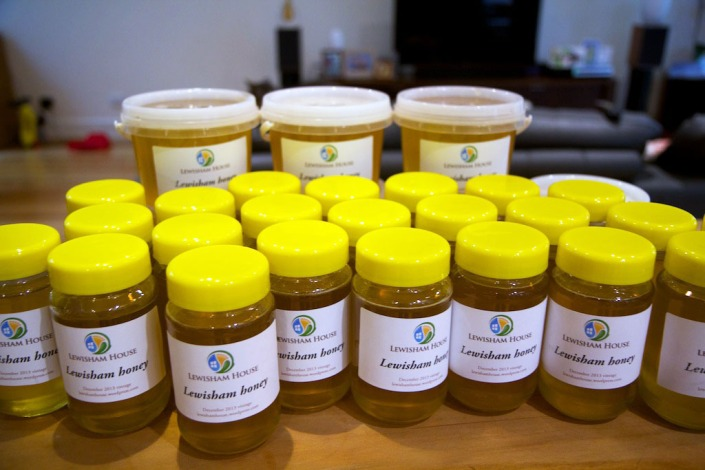 Most of our latest honey harvest.