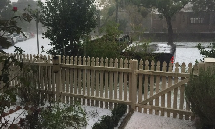 The whole suburb was hit, including serious local flooding