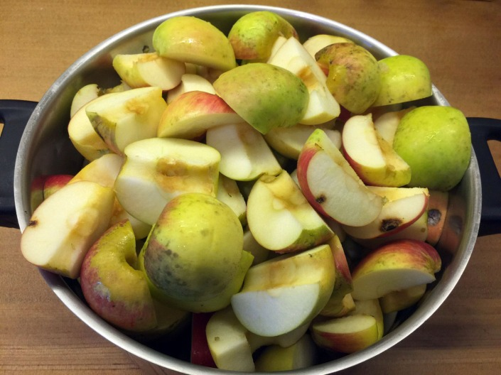 Another pile of apples, ready to be processed