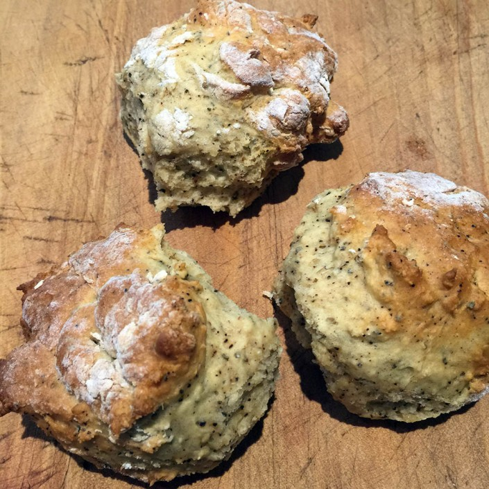 Homemade wattleseed scones, soft and delicious!