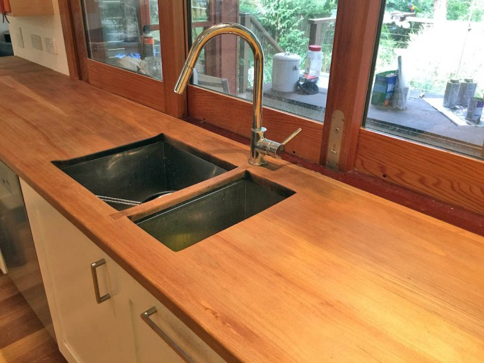 Our benchtops, after being given a protective oiling